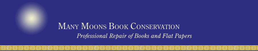 Many Moons Book Conservation: Professional Repair of Books and Flat Papers