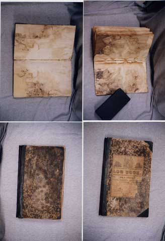 A composition book after treatment
